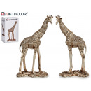 giraffe resin large off-white 2 assorted