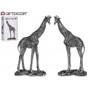 giraffe large silver resin 2 assorted
