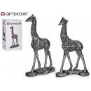 giraffe medium silver resin 2 assorted