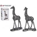 giraffe medium silver resin 2 assorted