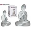 sitting buddha hands large resin bl / plates