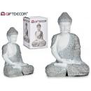 large resin seated buddha bl / plates