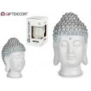 wholesale Home & Living: buddha head resin white / silver