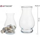 Vaso in vetro anfora da 40 cm