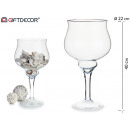 40cm wide glass candle holder