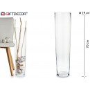 Grand vase en verre de 70cm