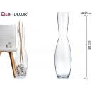 vase en verre large bouche haute