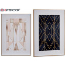 wholesale Home & Living: wood canvas, 2 times assorted geometric 12
