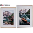 wood canvas, 2 times assorted mountain landscape 1