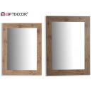 groothandel Spiegels: spiegellijst grenen bruin 64x84 cm