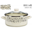 casserole with glass lid 22cm vegetables