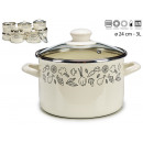 pot with glass lid 18cm vegetables