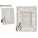 white wooden openwork photo frame 10x15