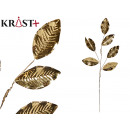 branch gold christmas decoration 5 leaves