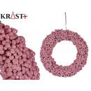 corona bolas rosas 30cm