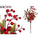 Kerst hoge tak met rode bessen