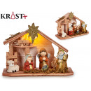 terracotta nativity with led