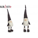 wholesale Headgear: gnome with gray hat 45 cm