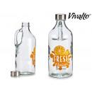Bottiglia di vetro da 1l con manico per succo