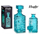 wholesale Food & Beverage: 1l turquoise glass decanter