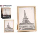 mayorista Casa y decoración: marco de fotos plástico natural 20x25cm, 2 veces s