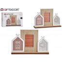 Fotorahmen dreifache Holzhäuser