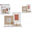 double cadre photo à la maison en bois