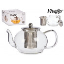 large glass ball steel kettle
