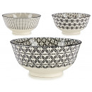 wholesale Home & Living: medium bowl 3 deco black assorted