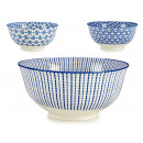 wholesale Decoration: large bowl 3 blue deco assorted