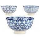 mayorista Casa y decoración: bol mini 3 deco azules surtido