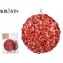 red hanging ball beads 10cm