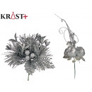 wholesale Other: christmas flower assorted 2 silver