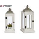 grossiste Décoration: lanterne rectangulaire moyenne en bois ...