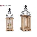 cage en bois carrée naturelle