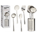 set di 4 utensili da cucina con portaposate