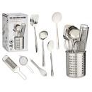 set di 8 utensili da cucina con posate