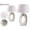 nagyker Lámpák: nagy ovális ezüst / fehér lámpa