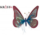 wholesale Other: 25cm blue and pink fabric butterfly