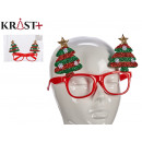 bright red glasses christmas trees