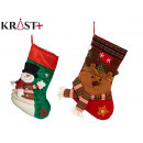 socks for Christmas decoration, 2 times assorted