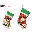 christmas socks assorted 2 figures