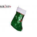 Christmas socks with sequins, 2 times assorted