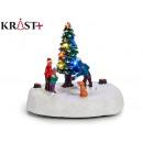 christmas scene 4 figures led light