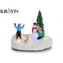 christmas scene with led light tree