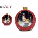Großhandel Leuchtmittel: Ball Weihnachtsszene rot geführtes Licht