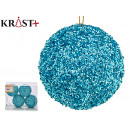 set of. 6 christmas balls sequins blue cl