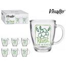 tazza in vetro 32cl riutilizzabile