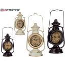 lampe horloge en métal, couleurs 2 fois assorti