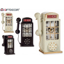 wholesale Other: metal clock phone booth 2 times assorted